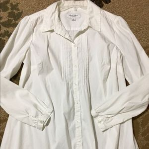 Liz Lange Maternity White Button Down Tunic